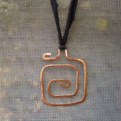 Artisan Spiral Copper Handmade Hammered Pendant Necklace Christmas Gift #Unbranded #Pendant