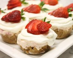 Sure, there are a lot of healthy things you could do with strawberries. But when strawberry cheesecakes are an option, why on earth would you make a healthy dish? Especially when all you have to do is pop them in the freezer for a few hours! These tasty bites are decadent and perfectly portioned ...
