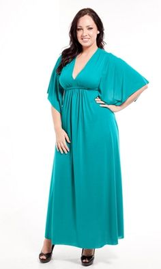Goddess Plus Size Maxi Dress.... in black please!