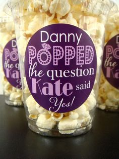 Hand Out Popcorn Favors! is listed (or ranked) 7 on the list Engagement Party Ideas You'll Fall in Love With