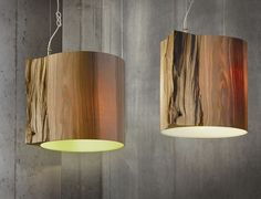 LIGHTING - Wooden Lights - The Wise One Wood Log Pendant Light by Ieva Kaleja for Mammalampa
