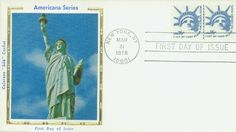 1619 1978 16c Statue Of Libery, Perf 10 Coil Silk First Day Cover