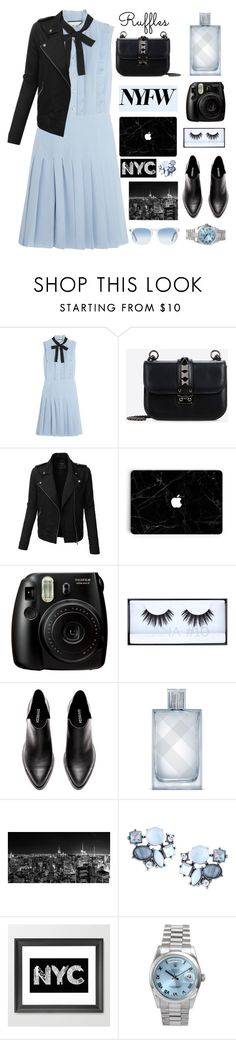 """""""Top set 03.09.2016 NYFW"""" by dianakhuzatyan ❤ liked on Polyvore featuring Gucci, Valentino, LE3NO, Fujifilm, Huda Beauty, Burberry, Lydell NYC, Rolex and Oliver Peoples"""