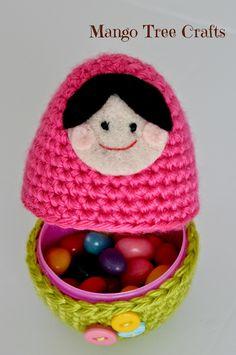 Mango Tree Crafts: Crochet Babushka Doll Easter Egg Pattern