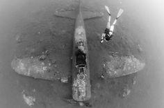 Avión japones Mitsubishi Zero en el fondo del mar de Papua Nueva Guinea #Historia