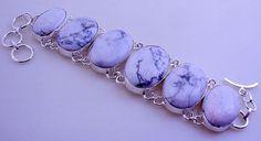 DENDRITE OPAL Stone .925 silver Indian Handmade Adjustable Bracelet Jewelry by PINKCITYGEMS on Etsy