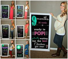 all things katie marie: chalkboard tracker Pregnancy Chalkboard Tracker, Pregnancy Tracker, Pregnancy Info, Chalkboard Pictures, Baby Couch, Pregnancy Calculator, Everything Baby, Baby Grows, Baby Bumps
