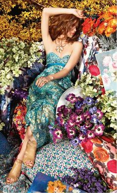 ❀ Flower Maiden Fantasy ❀ beautiful photography of women and flowers - bcbg maxazria