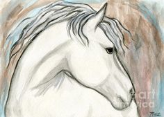 'Horse With No Name' Painting by Roz Barron Abellera. horse with no name, watercolor, roz barron abellera, black, white, brown, blue, horse, horses, equestrian art, horse art, horse painting, equestrian artists, animal, painting, horse paintings, horse, illustration, mammal, stallion, symbol, isolated ,icon, speed, sign, nature, wild, power, thoroughbred, mane, mustang, freedom, riding, free, equine, portrait, equine art, paintings, dressage horse, mare, equine, equestrian, pony, equine…