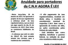 Imagem que circula em grupos de WhatsApp afirma que 'taxa regulamentadora' de 298,47 reais será cobrada a partir de fevereiro de 2017 Cobra...
