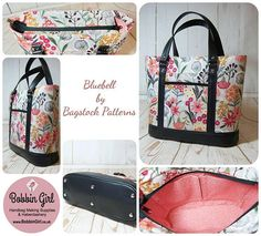 The Bluebell Tote & Handbag PDF sewing pattern Bagstock