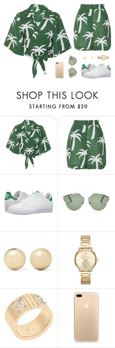 """Untitled #5027"" by mdmsb on Polyvore featuring Osklen, adidas, Christian Dior, Kenneth Jay Lane, MICHAEL Michael Kors and Michael Kors"