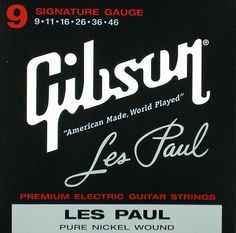 Gibson Gear SEG-LPS Nickel Plated Electric Guitar Strings, Extra Light by Gibson Gear. $9.99. Gibson Les Paul Signature Electric Strings .009-.0042. Save 33%!
