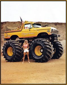 Ford Bronco - even a Monster truck photo can be improved with the right props. 79 Ford Truck, Lifted Ford Trucks, Custom Trucks, Cool Trucks, Pickup Trucks, Cool Cars, Chevy Trucks, Dually Trucks, Ford 4x4