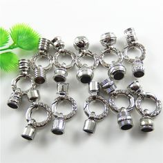 (11pieces)Mix 11Styles Silver Creative Design Alloy Bracelet Charms Jewelry Necklace Pendant Punk Man 20mm Handmade Craft 52491