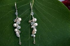 What lovely earrings for the bride.