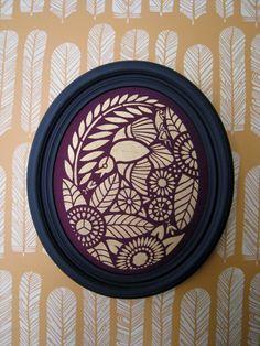 Bird Oval Stencil, DYI Home Decor/Fabric Art/Designer Stencil, reusable mylar stencil great on textiles, furniture,walls, etc.. $32.00, via Etsy.