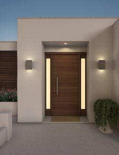 Cerno Celebrates 10 Years With Outdoor Light Fixtures Design Milk - Outdoor Lighting - Ideas of Outdoor Lighting Home Door Design, Door Design Interior, House Front Design, Modern House Design, Exterior Design, Small House Design, Modern Exterior House Designs, Modern Entrance Door, Main Entrance Door Design