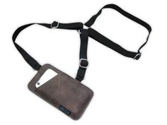 iPhone holster bag TINY shoulder holster bag for image 3 Iphone Holster, Diy Leather Gifts, Leather Crafts, Leather Halter, Iphone Leather Case, Black Leather Bags, Brown Leather, Etsy, Rubber Bands