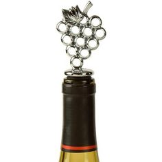 NEW LOVE OF WINE ~ Bottle Stopper ~ Bunch of Grapes~  Chrome Metal by Prodyne Prodyne  #Wine #BottleStopper