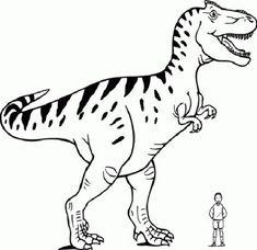 ausmalbild dinosaurier und steinzeit: dinosaurier: tyrannosaurus rex kostenlos ausdrucken