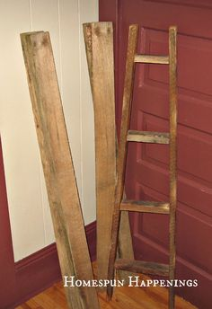 I love to decorate with ladders. My grandpa gave me one from his farm, and I love it. I have a feed sack hanging from it that also ...