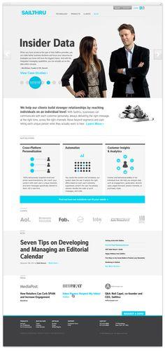 Sailthru by RED ANTLER =, via #Behance #Webdesign