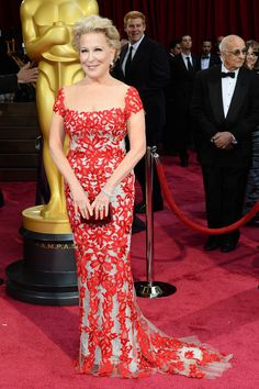 Oscar Dresses 2014 Style - Academy Awards 2014 Red Carpet Fashion - Bette Midler in Reem Acra