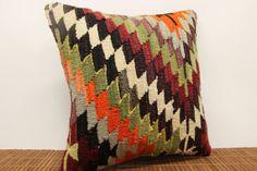 Vintage Zigzag Kilim pillow cover 16 x 16 by kilimwarehouse, $46.00