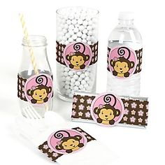 Monkey Girl - Baby Shower Theme | BigDotOfHappiness.com
