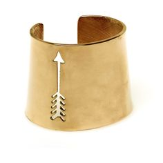 House of Harlow 1960 Arrow Cut Out Cuff in Gold ($183) ❤ liked on Polyvore