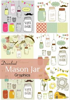 Tutorial for DIY Postcards plus GraphicStock Mason Jar Graphics and other cool graphics to download.