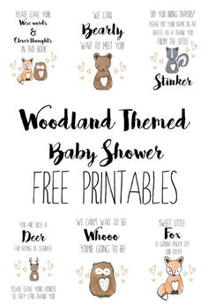 Woodland Themed Baby Shower - Free Printables #babyshower #woodlandtheme