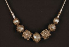 Granulated silver beads from South India late 19th / early 20th c