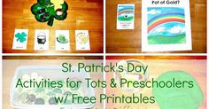 St. Patrick's Day learning activities and free printables for tots and preschoolers.