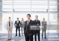 Stock Photo : Business people standing together in office