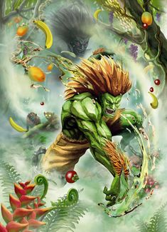 View an image titled 'Blanka Artwork' in our Street Fighter X Tekken art gallery featuring official character designs, concept art, and promo pictures. Capcom Street Fighter, Street Fighter Iii, Street Fighter Alpha, Super Street Fighter, Gi Joe, Geeks, Blanka Street Fighter, Street Fighter Wallpaper, Samurai