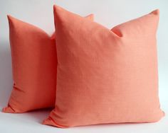 Coral Linen Pillow Covers