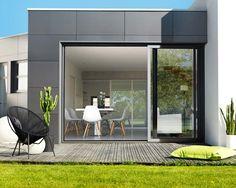 Baie coulissante 3 rails K-Line Villa, Patio Doors, Oversized Mirror, Sweet Home, Design Inspiration, Windows, Architecture, Furniture, Home Decor