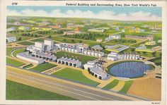 Federal Building and surrounding area, 1939-40 New York World's Fair Postcard.