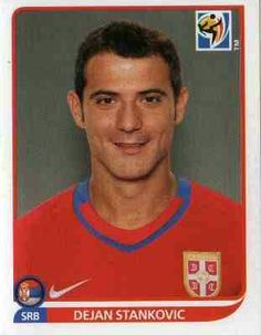 Dejan Stankovic of Serbia. 2010 World Cup Finals card. Red Star Belgrade, World Cup Final, Fifa World Cup, Finals, Polo Ralph Lauren, Soccer, Football, South Africa, Albums
