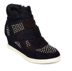 Stevies Girls shoes Glitz High Top Wedge Sneakers Black Studs Kids size 13 NEW #Stevies #Athletic #everyday