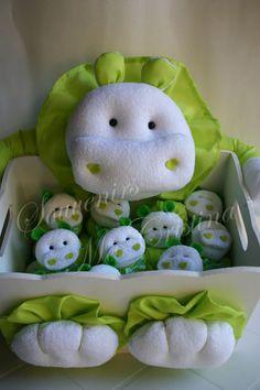 Especial hipopótamos en verde será nena o varón ?? ideal nacimientos, baby shower