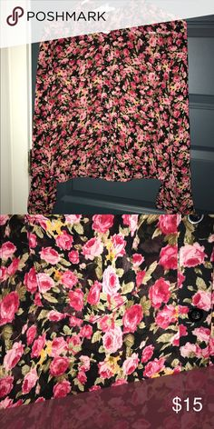 Tobi Sheer Top Sheer floral Top from Tobi! New with tags. It's a little shorter in the front and longer in the back. Cute with high waisted jeans! Smoke free home Tobi Tops