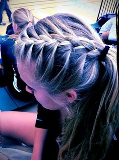 Cute athletic hairstyles inspirational 17 best ideas about cute volleyball hairstyles on Braided Hairstyles For School, Twist Braid Hairstyles, Girl Hairstyles, Trendy Hairstyles, Cute Sporty Hairstyles, Hairdos, Track Hairstyles, Hairstyle Braid, Hairstyles Pictures