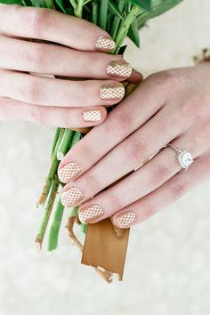 Gold wedding nails! #nailart