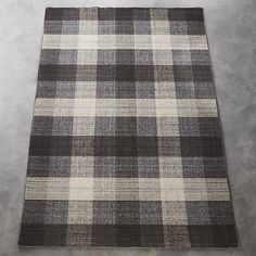 Like a fine tailored suit turned rug. Classic plaid is made modern in tonal neutrals and a pinstripe of blue. Hand-loomed flatweave with semi twisted yarn adds welcoming texture to any room. Girls' room or guest room? Dhurrie Rugs, Tailor Shop, Interior Rugs, Masculine Style, Brown Rug, Modern Area Rugs, Farmhouse Chic, Blue Accents, Room Rugs
