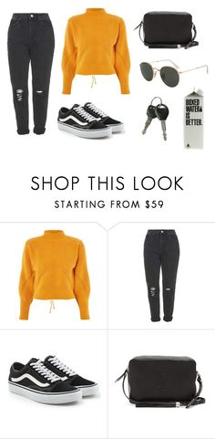 """Fri, 16th Sep."" by ilikemockingjays ❤ liked on Polyvore featuring Topshop, Vans, Yves Saint Laurent and Ray-Ban"