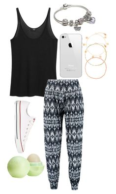 """Belgium Outfit - Day 3 ♡"" by aliyaheart ❤ liked on Polyvore featuring MANGO, Boohoo, Converse, Pandora, Accessorize and Eos"