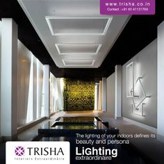 The #lighting of your indoors defines its beauty and persona. Choose from an amazingly diverse variety of #indoor lights at Trisha Interiors Extraordinaire.  http://bit.ly/1yIInVx